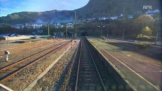 Норвегия вид из кабины машиниста
