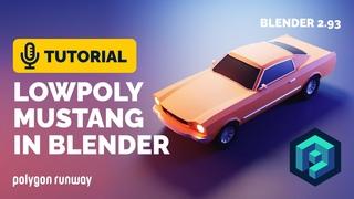 Blender Low Poly Car Full Tutorial - 1965 Mustang | Polygon Runway