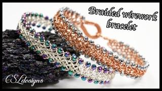 3 strand braid woven wirework bracelet