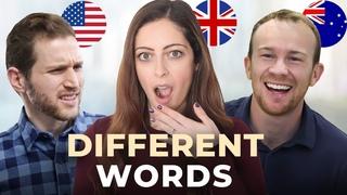 1 Language, 3 Accents! - American vs. British vs. Australian English