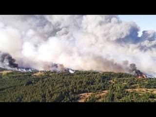Военные самолеты помогают тушить лесные пожары в Якутии