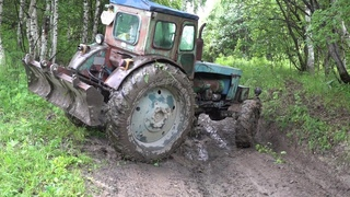 Синий Трактор Т-40АМ и Нива шевроле Offroad
