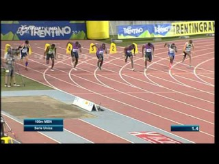 Femi Ogunode wins Men's 100m - Meeting Rovereto 2015