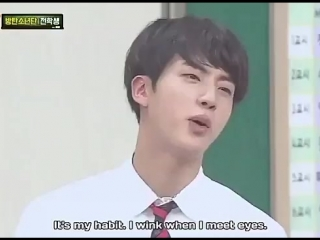 never forget when heechul had to interrupt the conversation because he made eye contact with seokjin and seokjin winked at him w