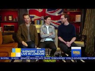 Benedict Cumberbatch, Tom Hiddleston and Tom Holland dish on 'Avengers׃ Infinity War' RUS SUB