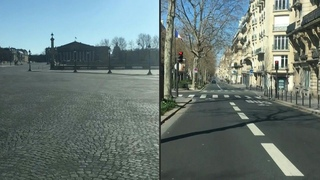 A drive through the deserted streets of Paris on seventh day of confinement | AFP