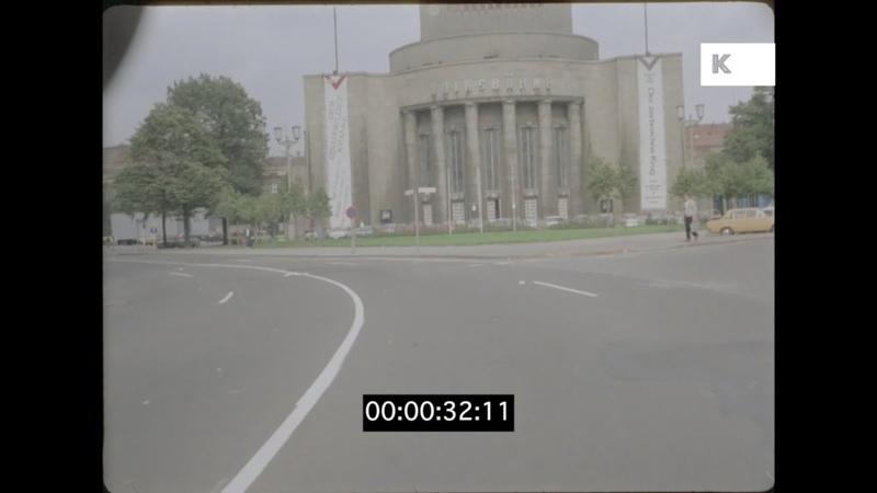 1980s Germany Driving In East Berlin Volksbuhne 35mm