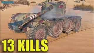 Колёсник в топе враги в зопе ✅ 13 фрагов на EBR 75 World of Tanks