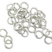 Колечки одинарные металл цв.серебро