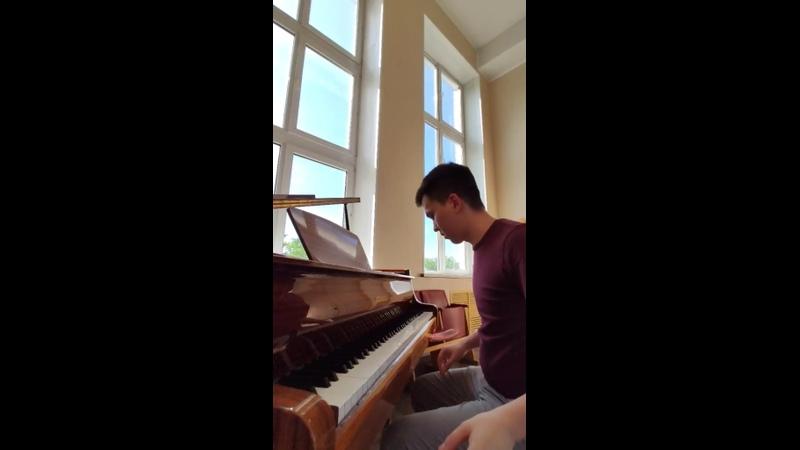 J S Bach Fugue in C sharp major