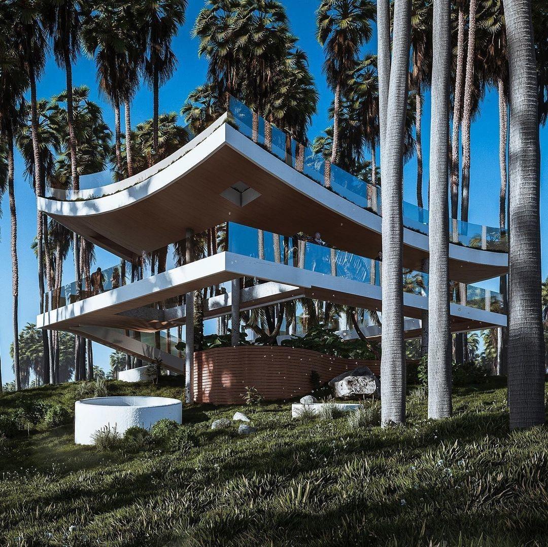 Вдохновленный формами японских храмов «Дом Инзета» на Кубе