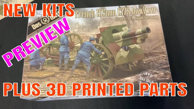 NEW Plastic model kit French 155 gun from Das Werk 3d printed parts for tanks