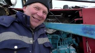 Трудный запуск пускача ПД-10 трактор ЮМЗ в морозы  #Бажениты