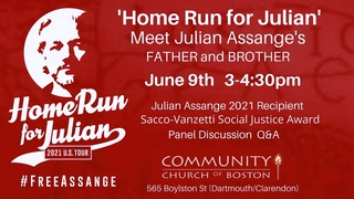 Assange wins 2021 Sacco & Vanzetti Award for Social Justice - Live from Boston