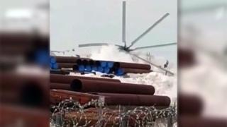 Восемь человек пострадали врезультате аварии вертолета Ми-26 наЯмале. Новости. Первый канал