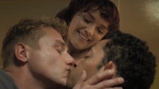 Pixie / Kiss Scene  Harland, Frank and Pixie (Daryl McCormack, Ben Hardy and Olivia Cooke)