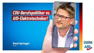 CDU-Berufspolitiker vs. AfD-Elektrotechniker