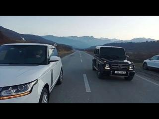 DRAG RACE MERCEDES-BENZ G55 AMG vs RANGE ROVER VOGUE | ГОНКА ГЕЛЕНДВАГЕН против Рендж Ровер